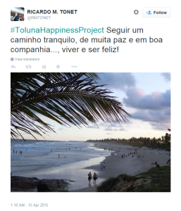 Twitter winner happiness contest